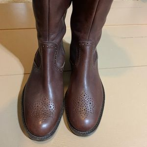 Franco Sarto brown lace up boots sz 5.5